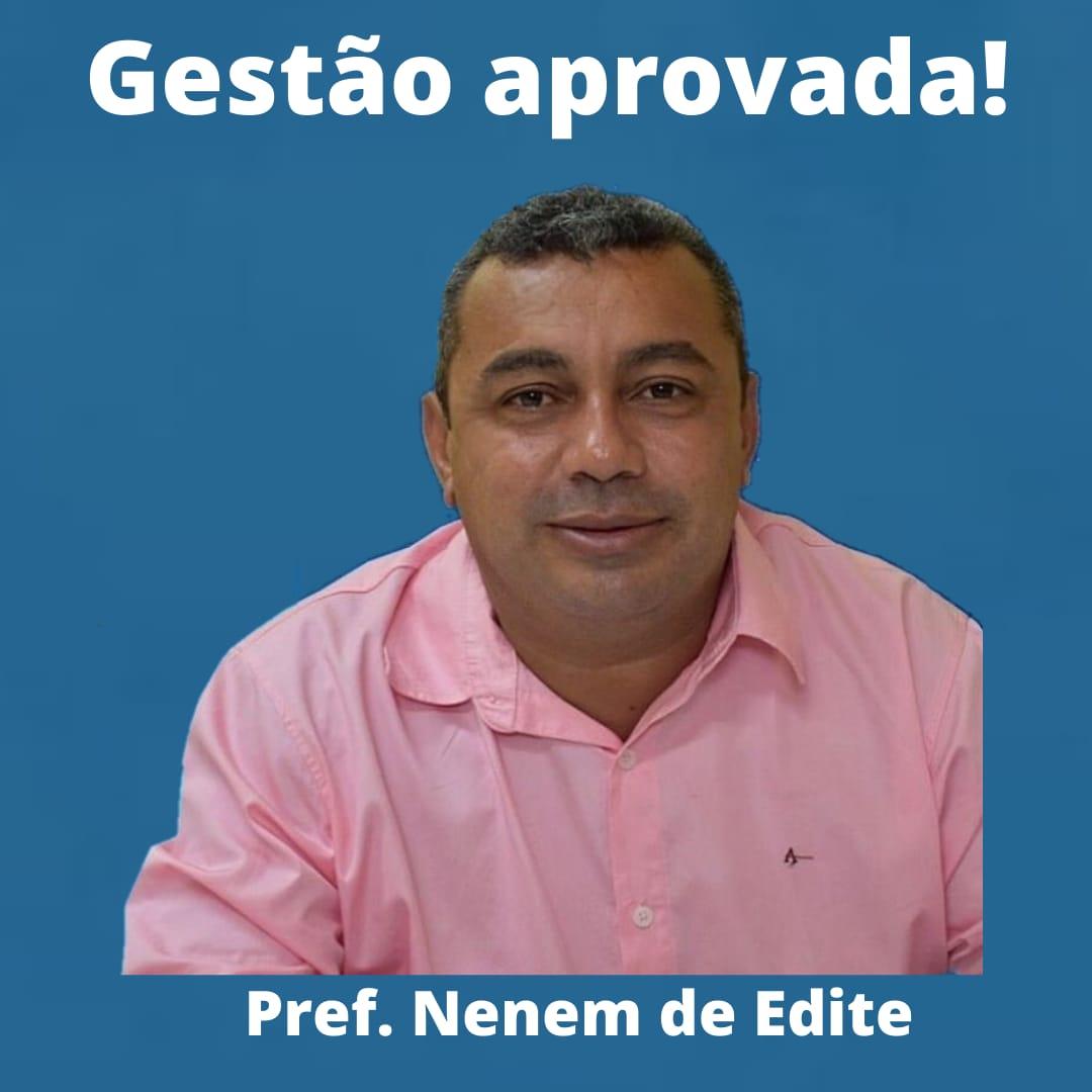 No Monitoramento de Gestão Census o prefeito Nenem de Edite tem aprovação recorde de 92.41%.